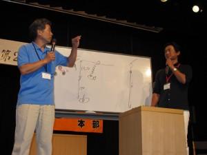 おなじみ「1000釣法」生みの親である池永祐二名人、「エイジア」生みの親である猪熊博之名人のトークショーでは、普段聞けない名人のトップシークレットも多数飛び出し、参加者からも大好評であった。