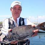 森口さんも良型を釣っていたが惜しくも入賞ならず。