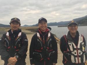 左から2位吉本会員、1位下山支部長、3位山下会員