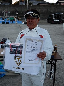 新川選手準優勝表彰