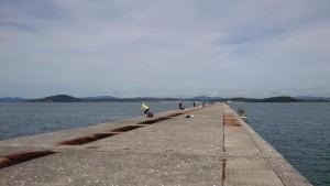 一文字の釣り場風景